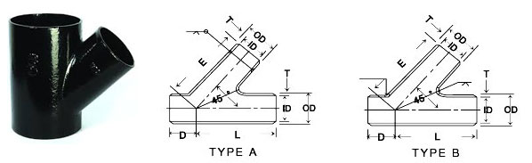Ansi asme b buttweld lateral tee manufacturer in india