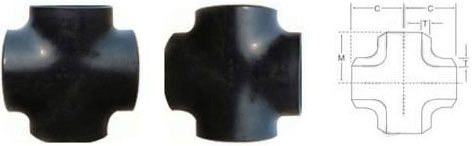 carbon steel straight cross Dimensions