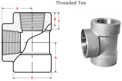 Threaded Tee Dimensions