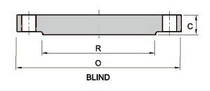 RTJ Blind flange class 75 Series B Dimensions