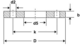 BS10 TABLE D FLANGE Dimensions