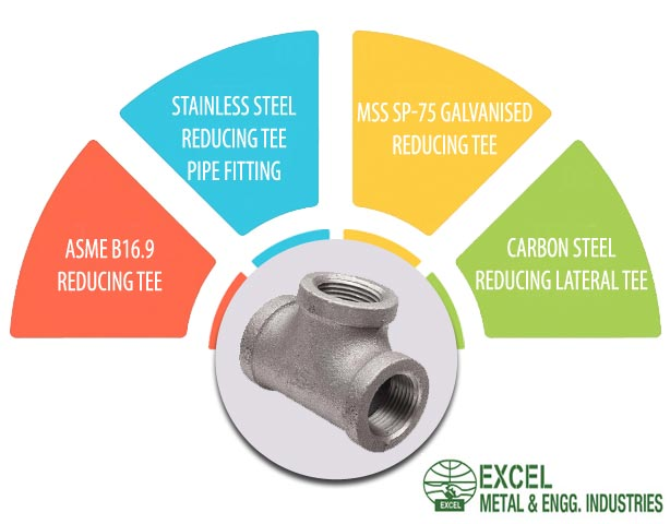 ASME B16.9 Reducing Tee Suppliers in India