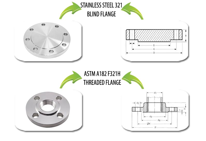 ASTM A182 F321 Flanges Suppliers in India