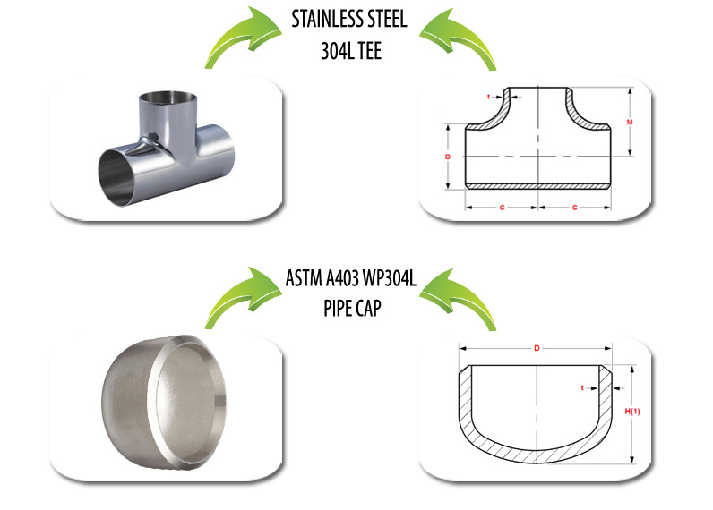 ASTM A403 WP304L Pipe Fittings Suppliers in India