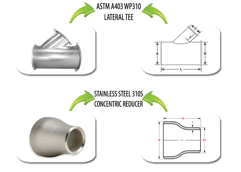 ASTM A403 WP310 Pipe Fittings Suppliers in India
