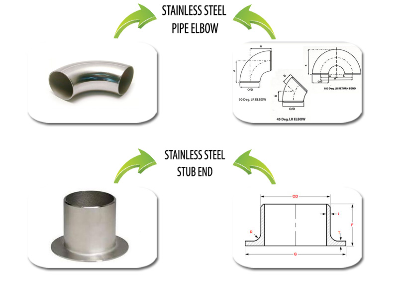 Stainless Steel Pipe Fittings Suppliers in India